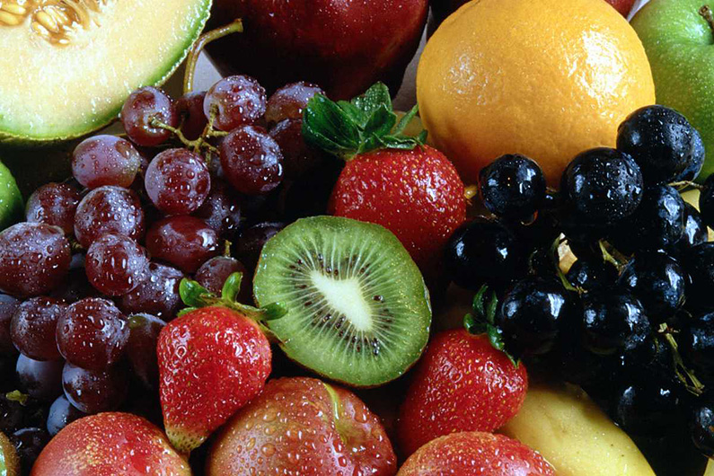 Assortment of luscious fruit